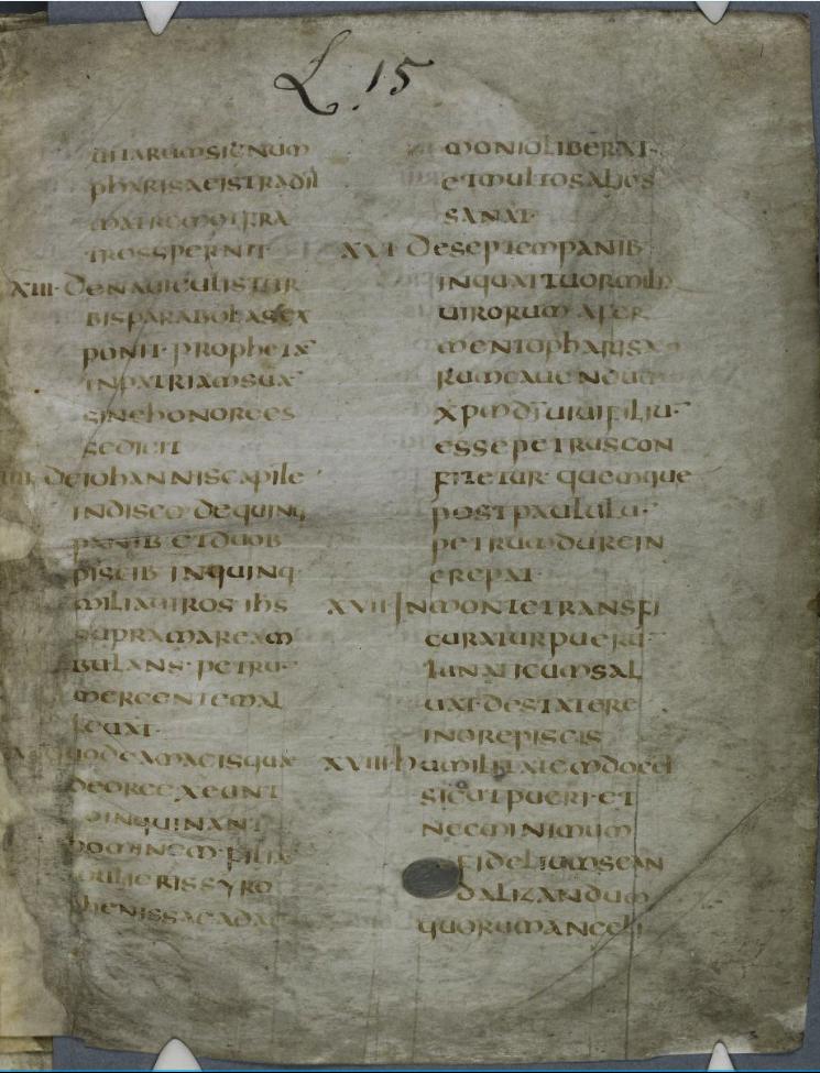 Оцифровано Евангелие Августина Кентерберийского